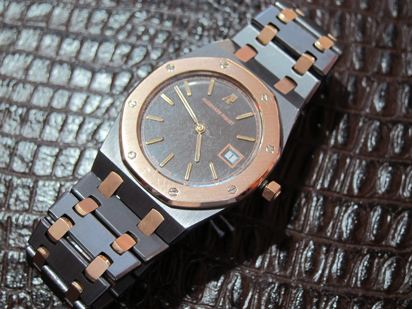 the super rare tantalum and rose gold 33mm royal oak
